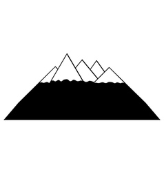 Mountains icon vector