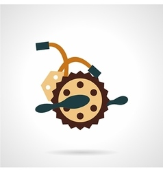 Flat color bike crankset icon vector