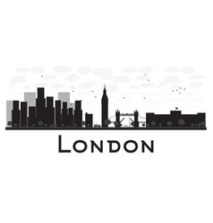 London skyline black and white silhouette vector