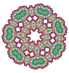 Red green abstract lace flowers on the white vector