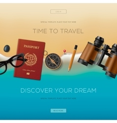 Travel banner for website vacation in paradise vector