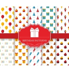 Collection set of happy birthday seamless pattern vector