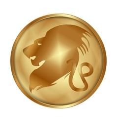 Leo gold medallion drive vector
