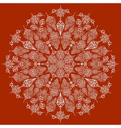 Highly detailed lacy snowflake vector