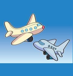 airplane aircraft aeroplane plane cartoon vector image vector image