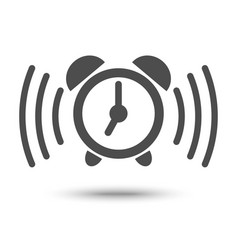alarm clock ringing icon vector image