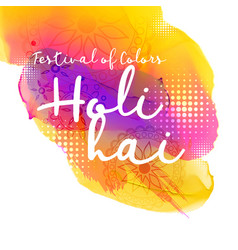 beautiful indian holi festival design vector image