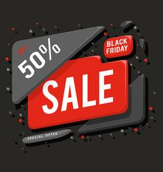 big black friday sale advertising banner layout vector image vector image