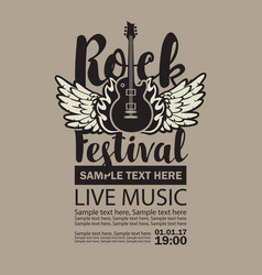 billboard for rock festival live music vector image vector image