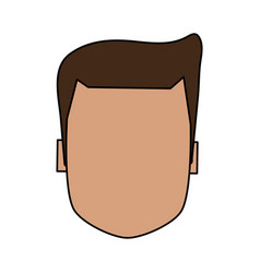 Color image faceless front view executive man with vector