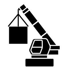 Crane cargo logistics icon vector