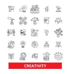 Creativity inspiration imagination innovation vector