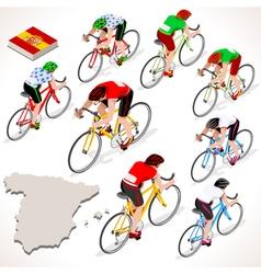 Cyclist 2016 vuelta espana isometric people vector