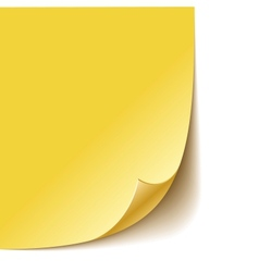 Empty paper corner vector image vector image