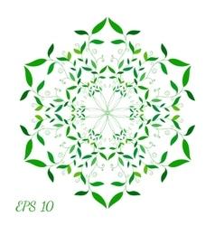 Green floral spring mandala vector
