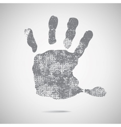 grey hand Print icon on white background vector image vector image