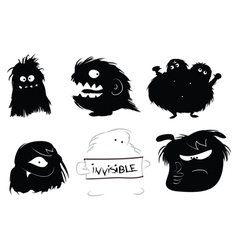 Hairy monsters vector