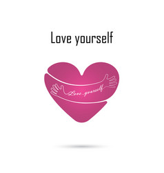 Hug yourself logolove yourself logolove and vector