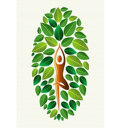 India yoga leaf concept vector image