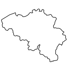 isolated belgian map vector image