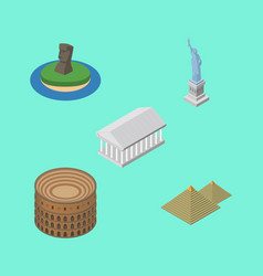 Isometric attraction set of egypt coliseum new vector