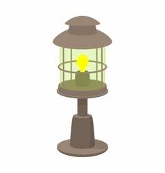 Lamp cartoon icon vector