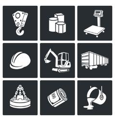Metals recycling icons set vector