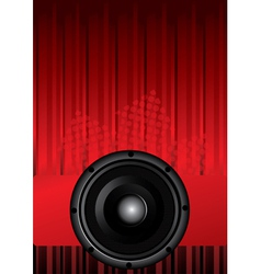 Party design with black speaker vector image vector image