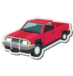 Pickup truck icon vector