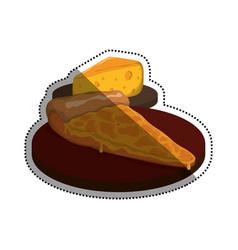 Pizza slice cheese vector