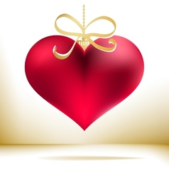 Red christmas heart decoration EPS8 vector image vector image