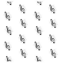 Seamless pattern of treble clef vector image