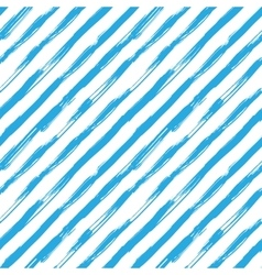 seamless pattern with blue brush diagonal vector image vector image