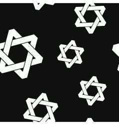 seamless pattern with star of David vector image