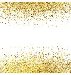 Shiny golden glitter on white background vector image vector image