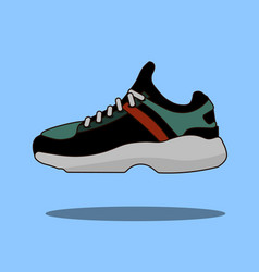 sneakers icon in flat style isolated on blue vector image vector image