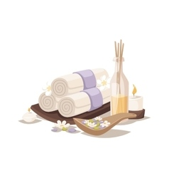 Spa towels aroma vector