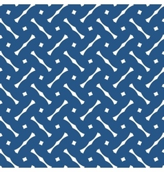 Tile blue and white pattern or dark background vector