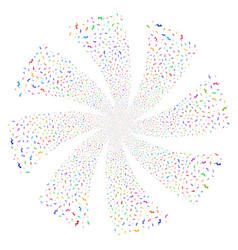 Trend fireworks swirl flower vector