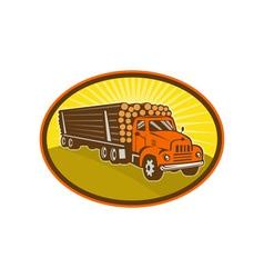 vintage logging truck vector image vector image