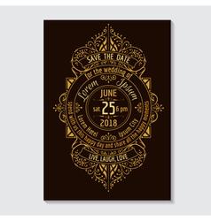 Wedding Invitation Card - Calligraphic Design vector image vector image