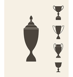 Trophies and cups set vector
