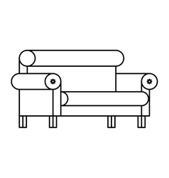 Isolated comfortable chair design vector image