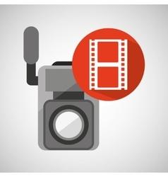 Movie video camera strip film icon vector