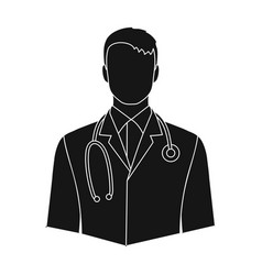 doctorprofessions single icon in black style vector image