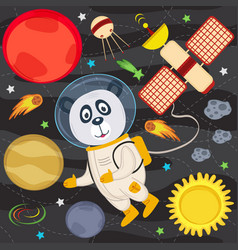 Panda in space vector