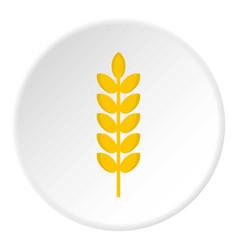 Grain spike icon circle vector