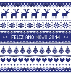 Feliz ano novo 2014 - protuguese happy new year pa vector