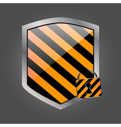 Security shield with lock 2 vector