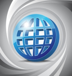 3D icon global vector image